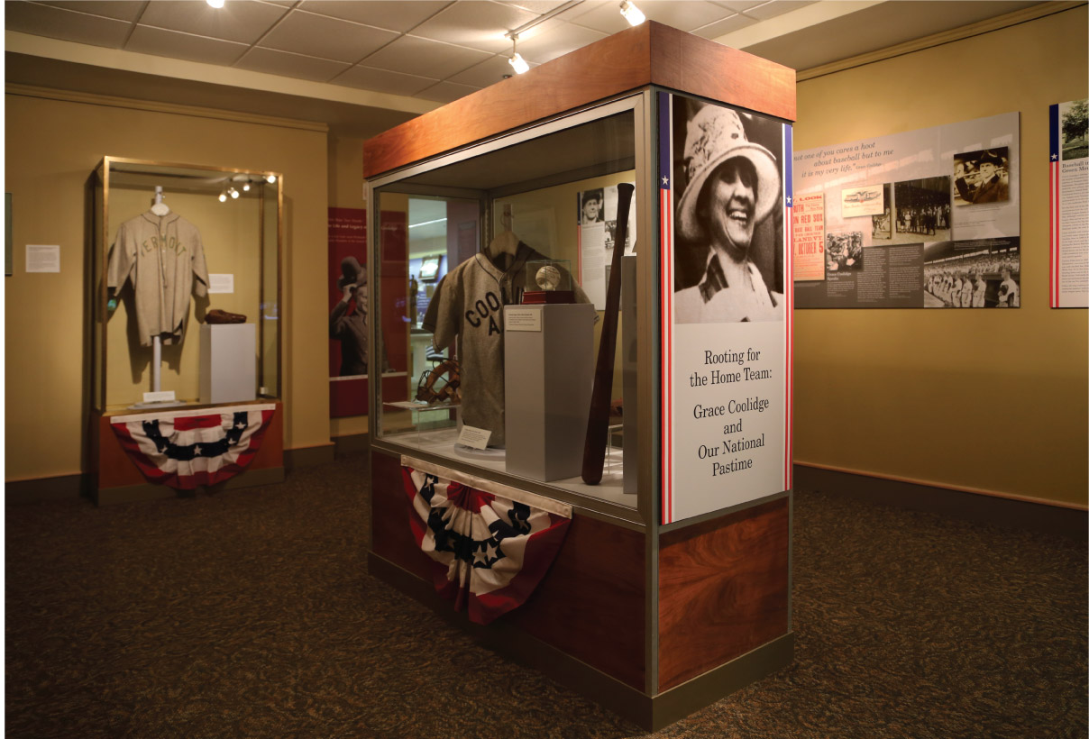 Grace Coolidge Center Case and Title Panel