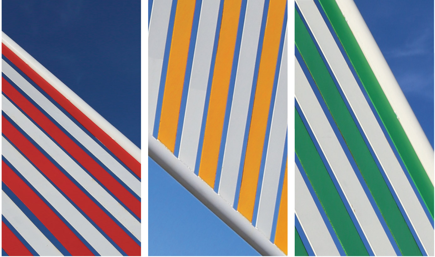 Hampton Beach Sunfish Stripe Triptych