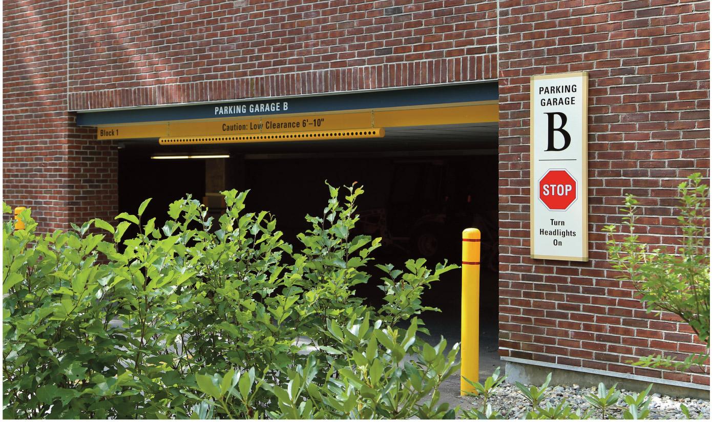 Kendal at Hanover Garage B Signs Close-up