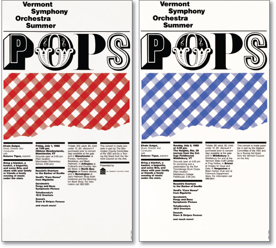 Posters for Summer POPS Concerts