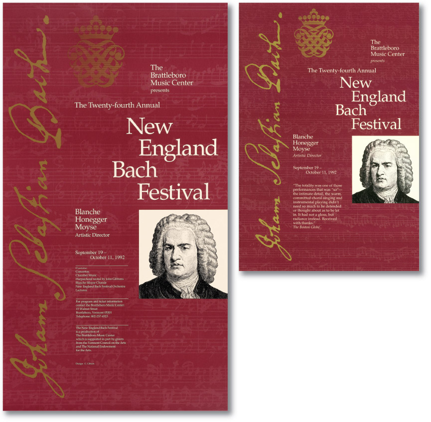New England Bach Festival Season Posters and Brochures