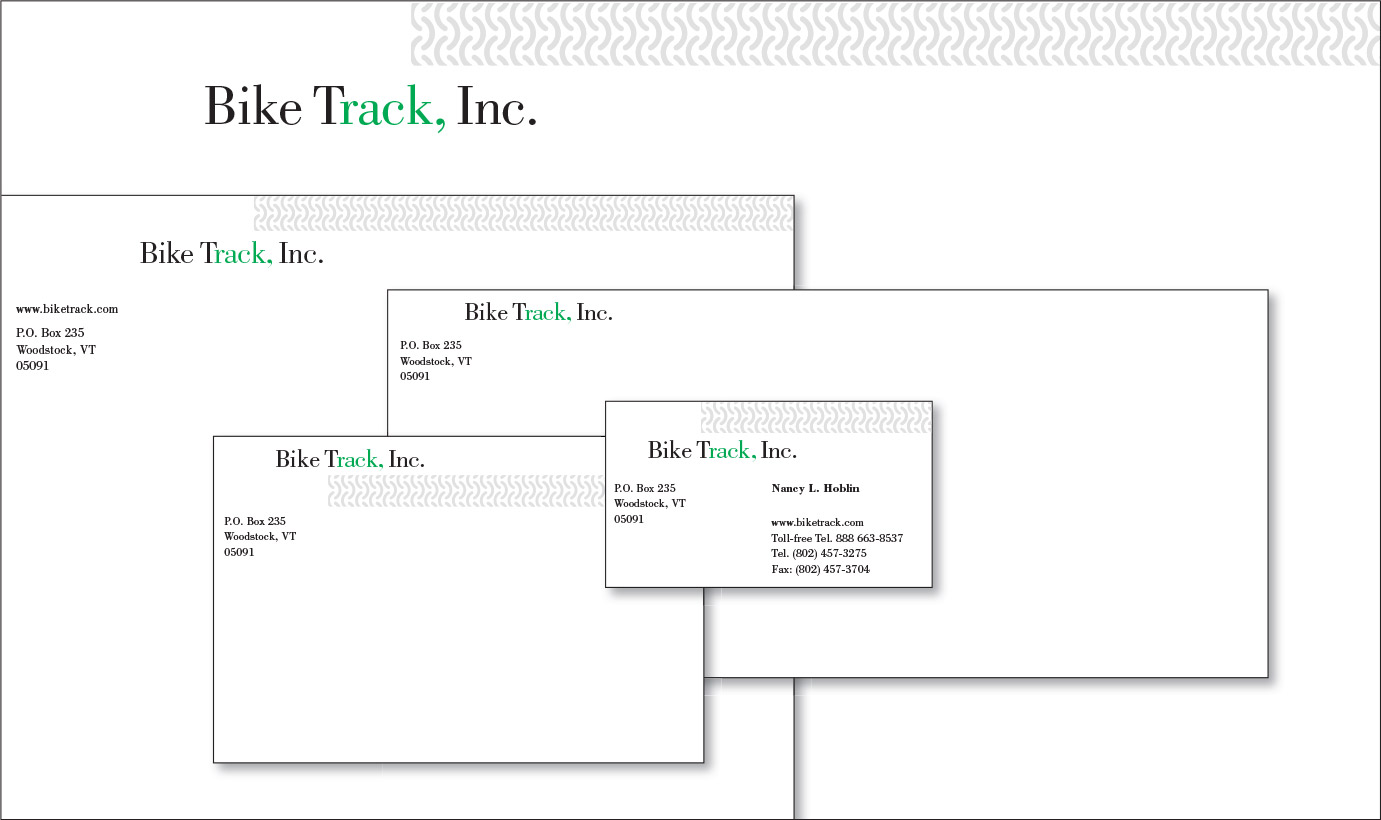 Bike Track, Inc. Logo and Stationery Program