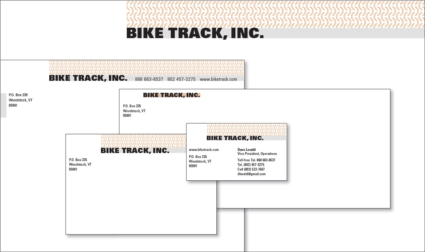 Bike Track, Inc. Logo and Stationery Program