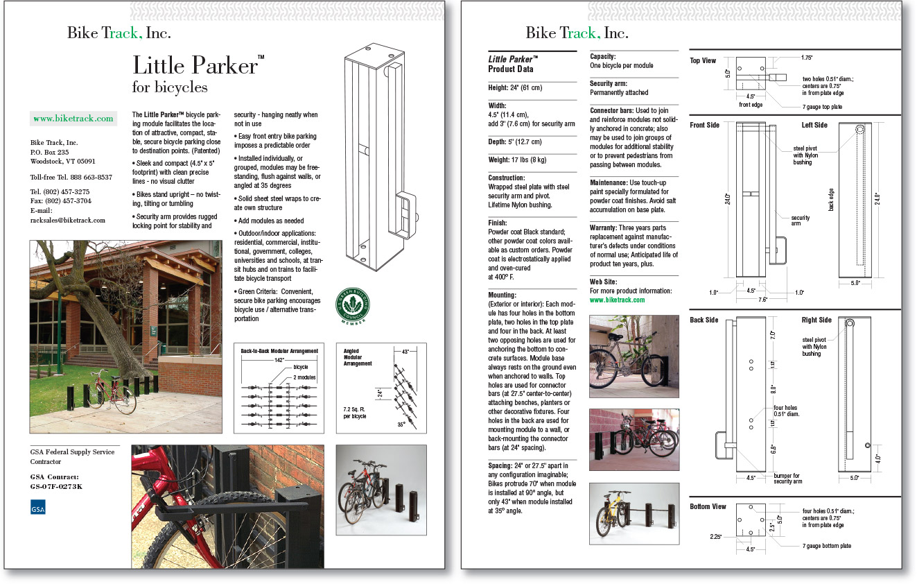 Bike Track Product Sheets
