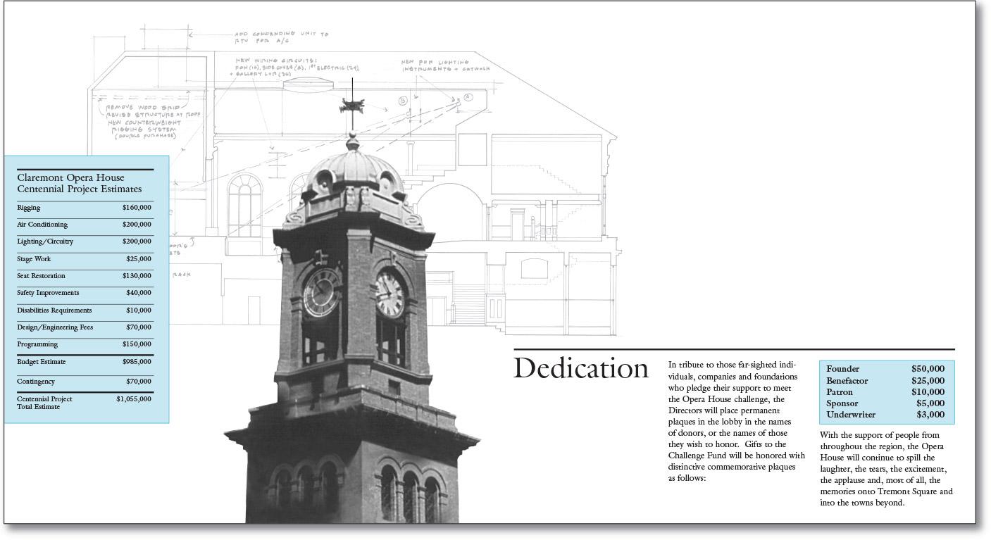 Claremont Opera House Season and Challenge Brochures