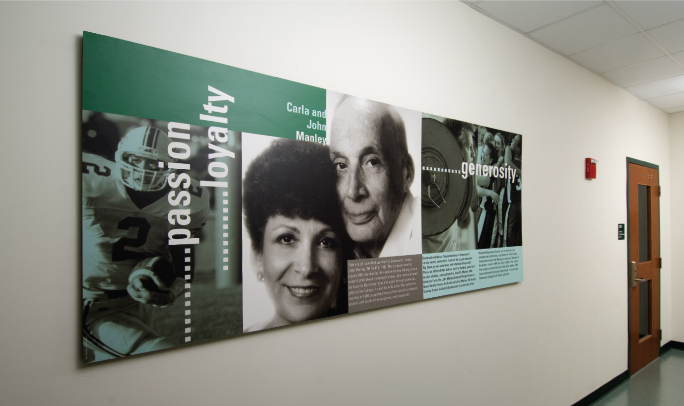 Dartmouth Athletics Donor Recognition Display