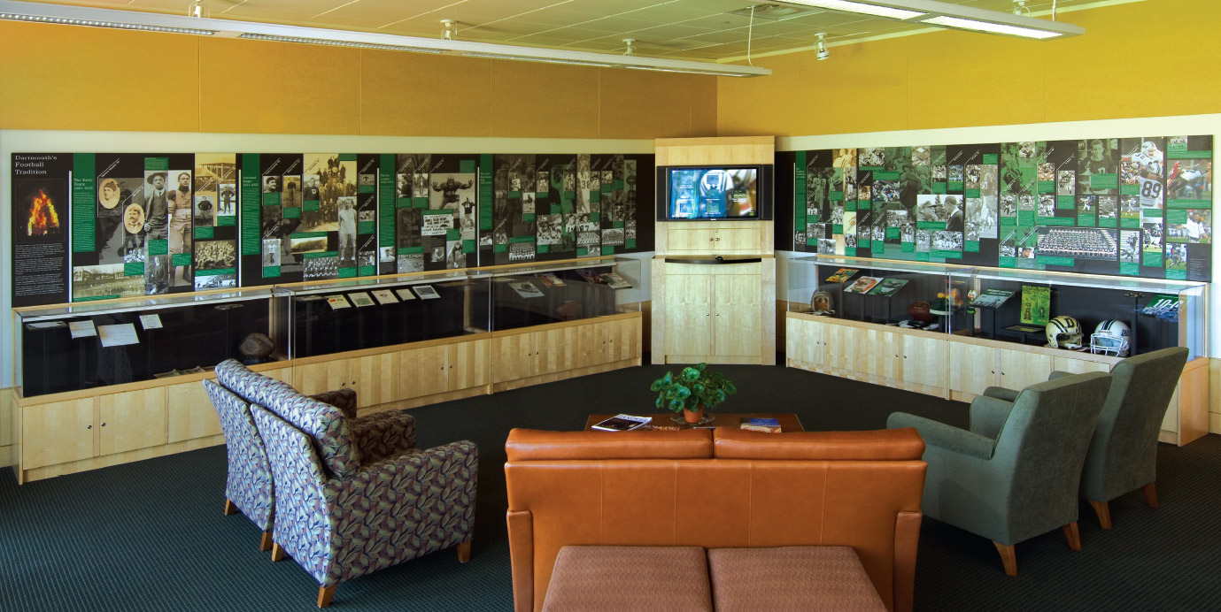 Dartmouth Football Timeline, Video Archive Kiosk and Memorabilia Exhibit