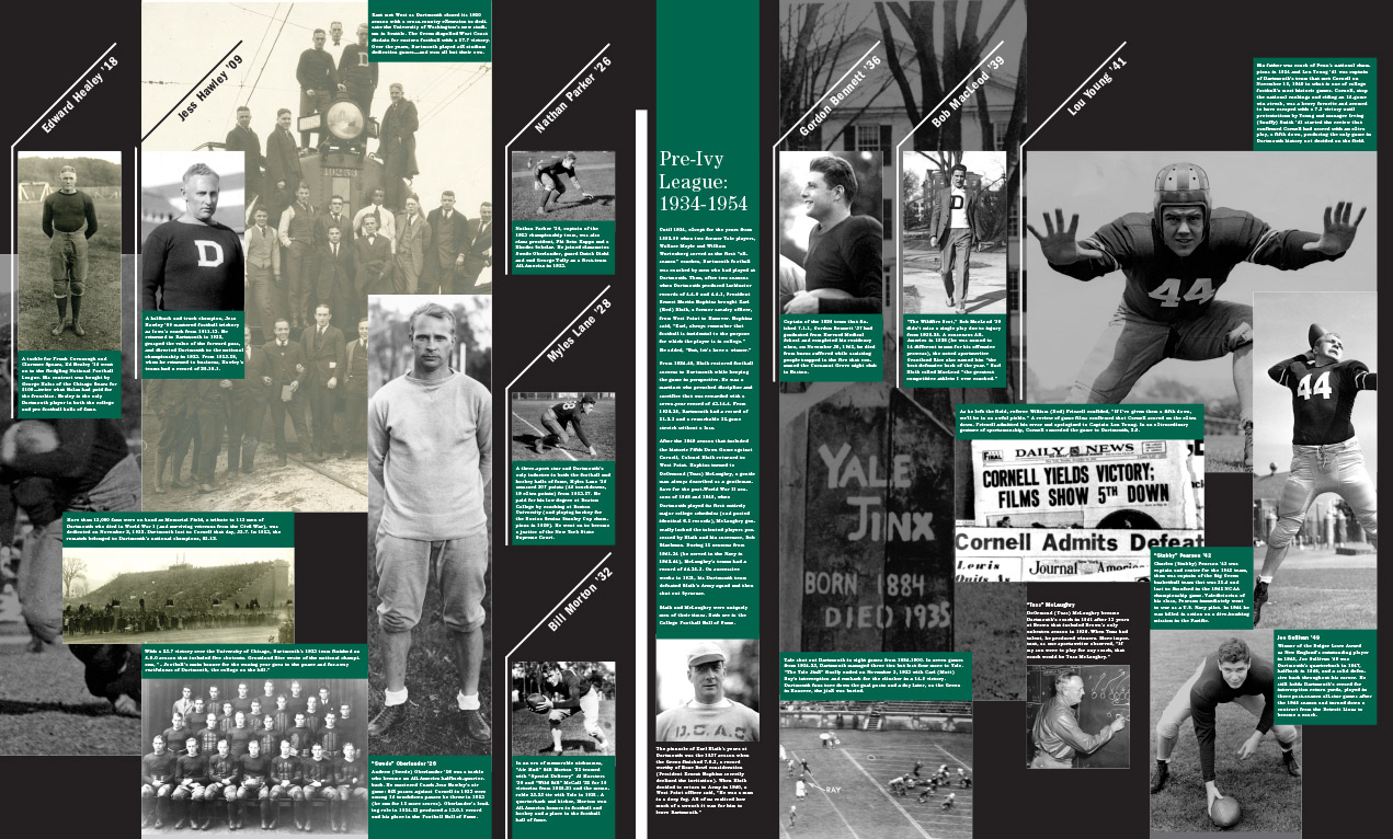 Dartmouth Football Timeline, Video Archive Kiosk and Memorabilia Exhibit