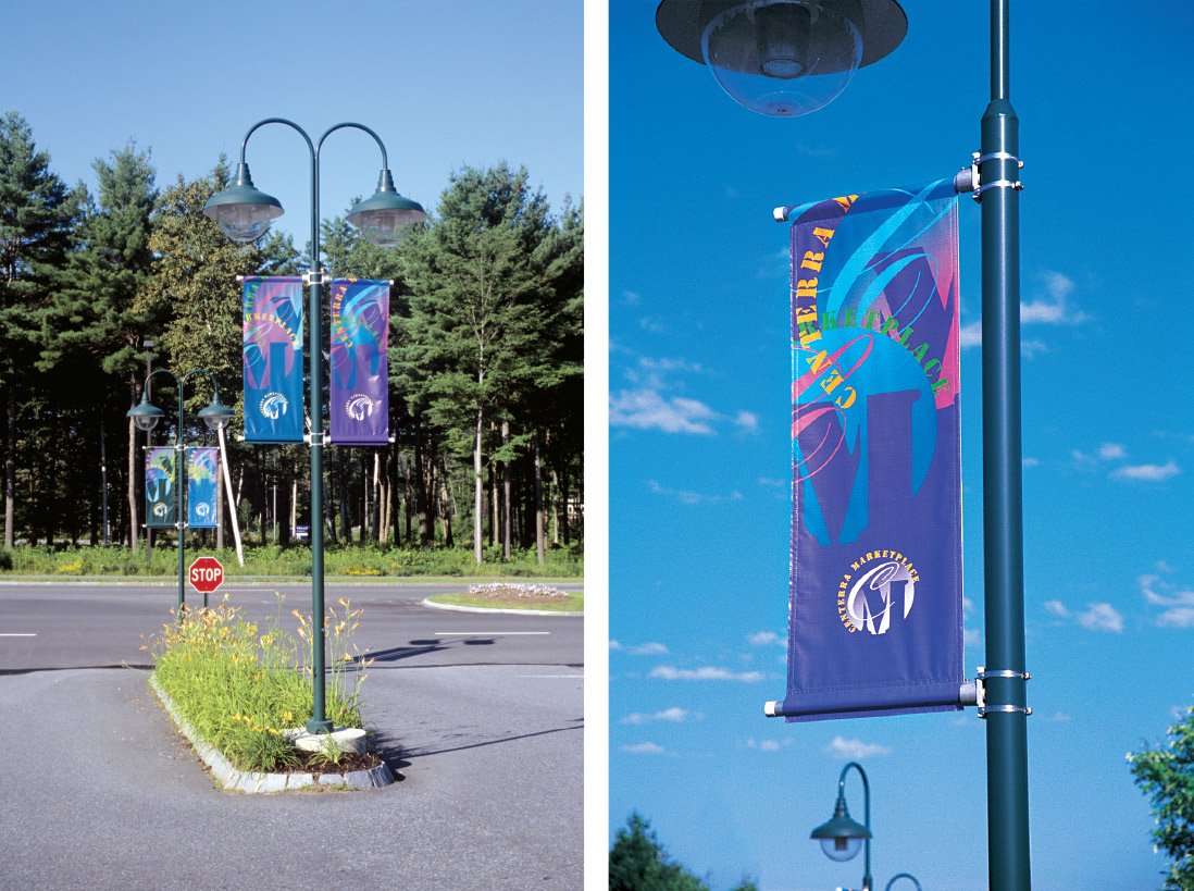 Identity / Banner Program for Retail Parking Area at Centerra Marketplace, Centerra Resource Park, Lebanon, NH