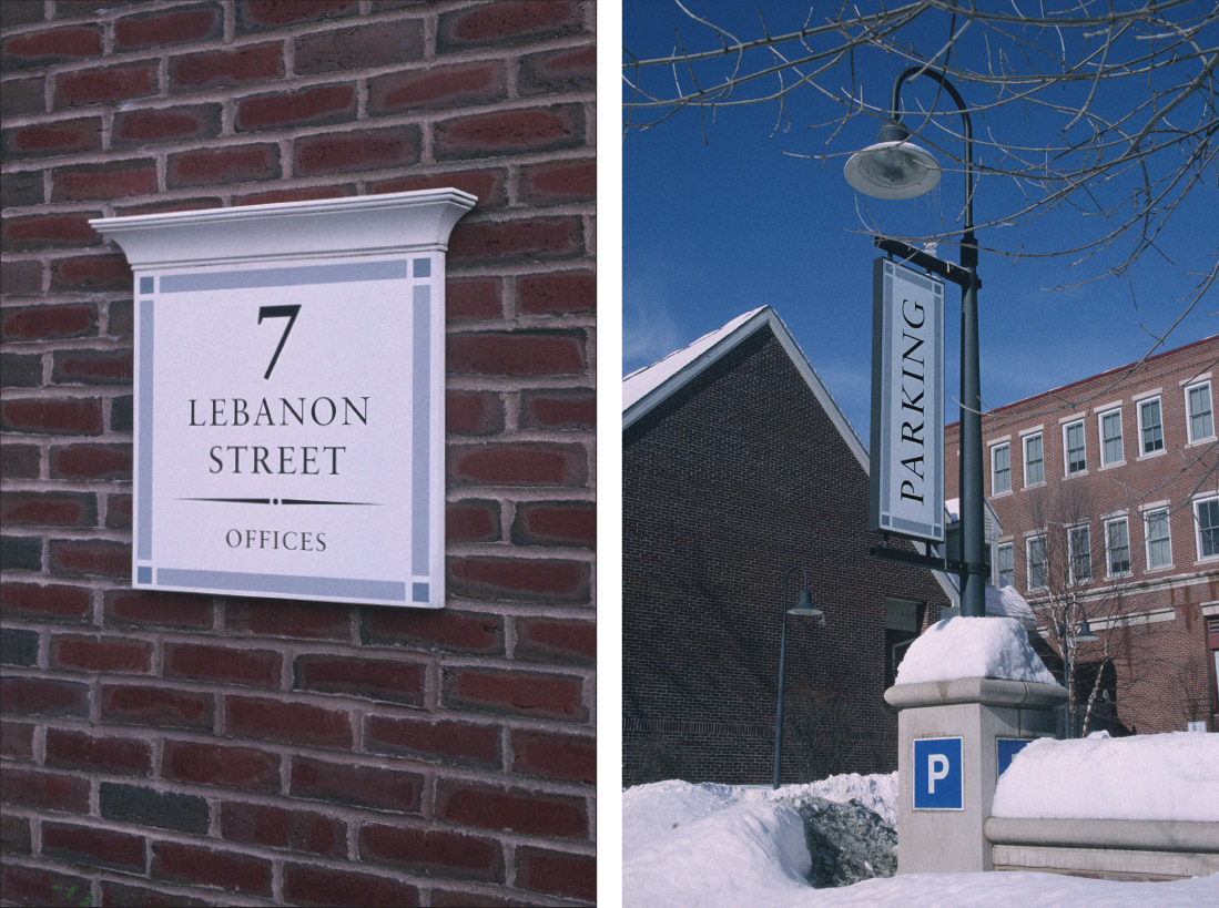Sign Program for 7 Lebanon Street and Dartmouth Real Estate Hanover, New Hampshire