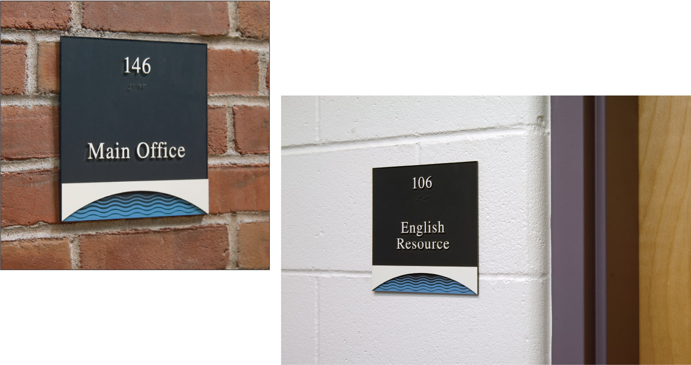 Interior and Exterior Identity Sign Program for Hanover High School Hanover, New Hampshire