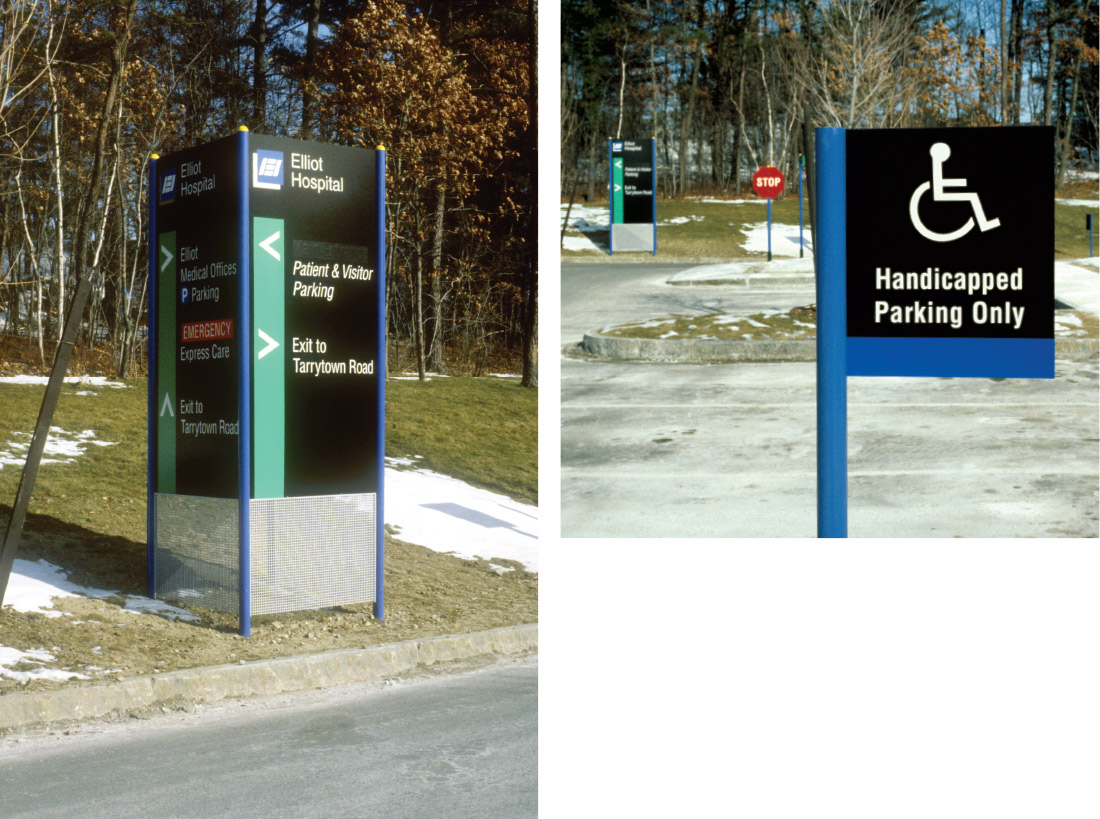 Elliot Hospital Campus and Interior Wayfinding Program