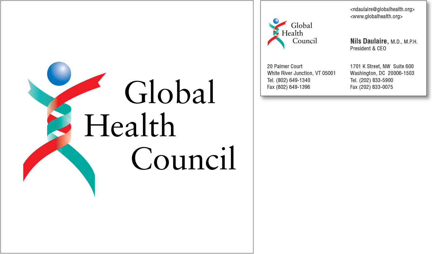 Global Health Council Logo and Stationery Program