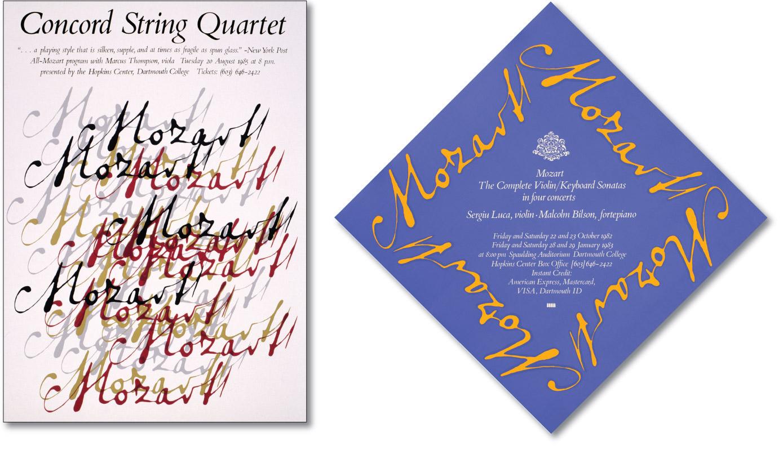 Concord Quartet and Mozart Violin Sonatas Posters