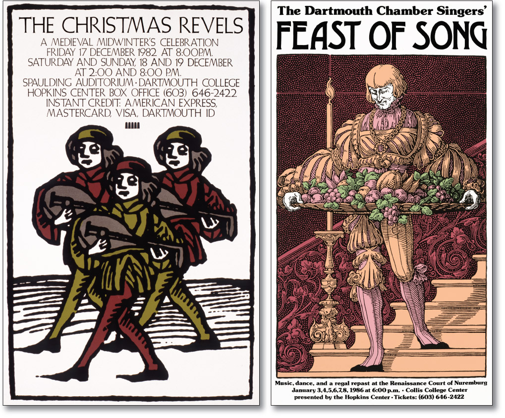 Christmas Revels and Feast of Song Posters