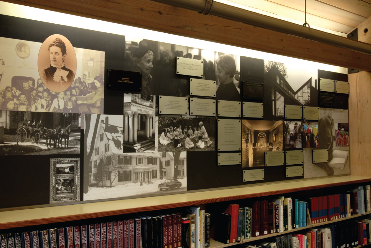Howe Library Donor Recognition Exhibit