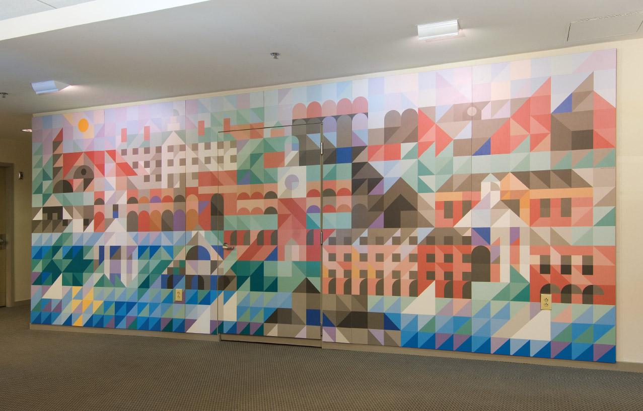 Howe Library Lobby Mural