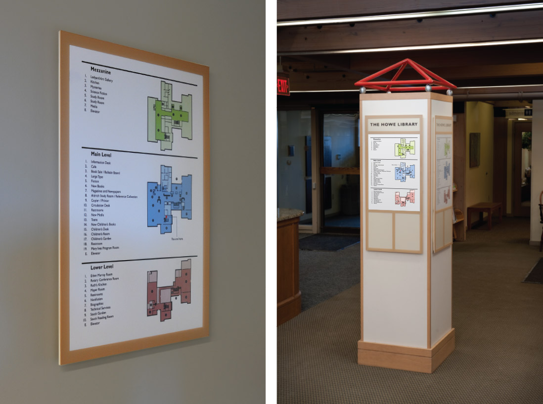Howe Library Comprehensive Wayfinding and Architectural Graphics Program