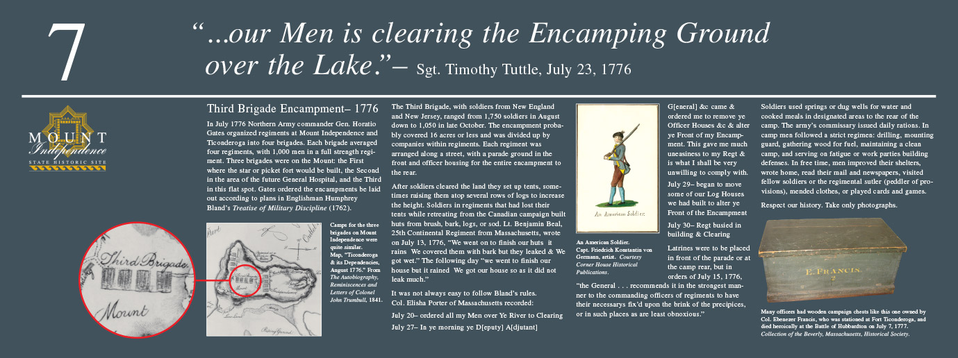 Interpretive Graphics for Mount Independence State Historic Site
