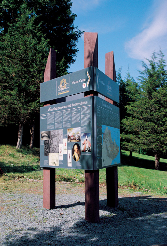 Integrated Wayfinding Program for Mount Independence State Historic Site Orwell, Vermont