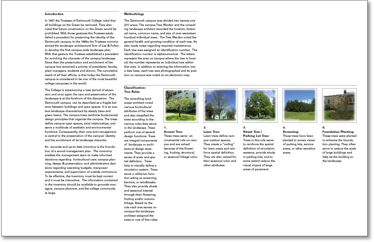 Project Sheets, Custom Portfolio Folder and Campus Tree Inventory