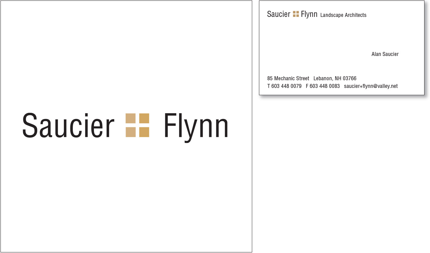 Saucier + Flynn Logo and Stationary