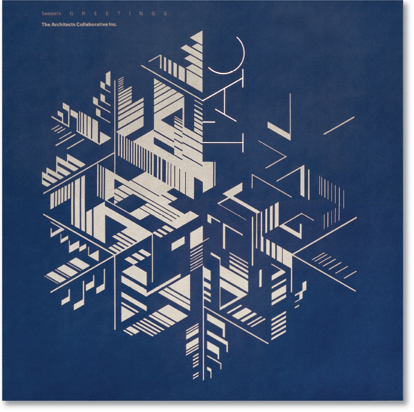 The Architect's Collaborative Season's Greetings Office Card